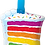 Thumbnail: Rainbow Cake and Candle - Qualatex Large Foil Balloon
