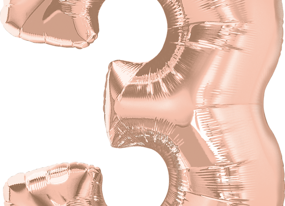 Rose Gold - 3 - Qualatex Large Foil Balloon