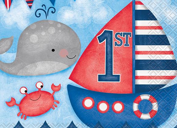 Nautical First Birthday Napkins