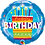 Thumbnail: Happy Birthday - Cake and Candles - Blue - Qualatex Small Foil Balloo