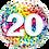 Thumbnail: Rainbow Confetti - 20 - Qualatex Small Foil Balloon