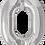 Thumbnail: Silver - 0 - Qualatex Large Foil Balloon