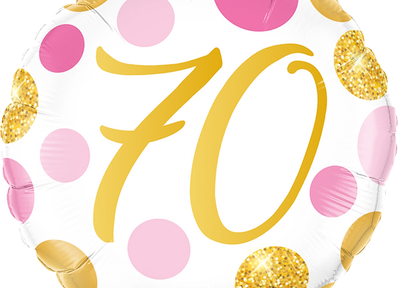 Gold and Pink 70 - Qualatex Small Foil Balloon