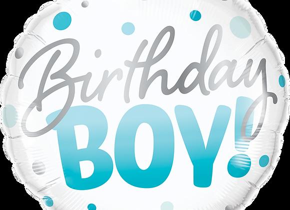 Birthday Boy - Blue dots
