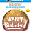 Thumbnail: Happy Birthday Gold & Rose Gold Ombre -  Qualatex Small Foil Balloon