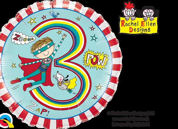 Rachel Ellen - Super Boy - 3 - Qualatex Small Foil Balloon
