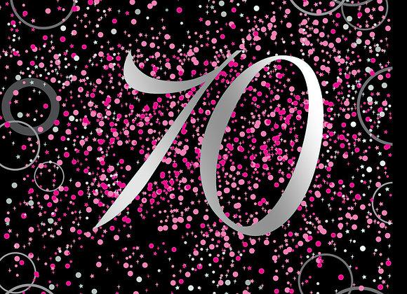 Foil Glitz 70 Pink - Napkins - Unique