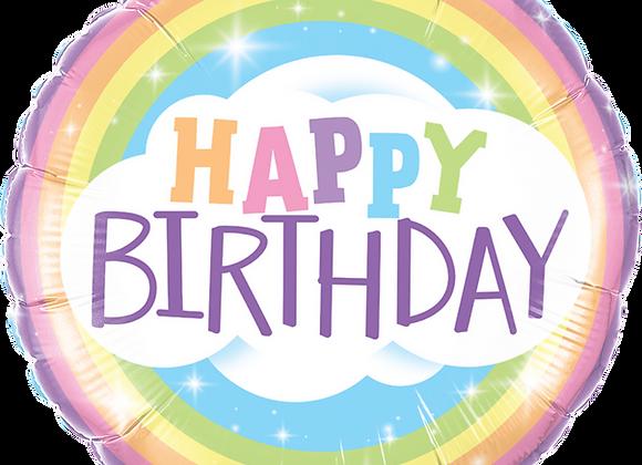 Happy Birthday Rainbow -  Qualatex Small Foil Balloon