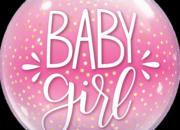 Baby Girl - Qualatex Bubble Balloon