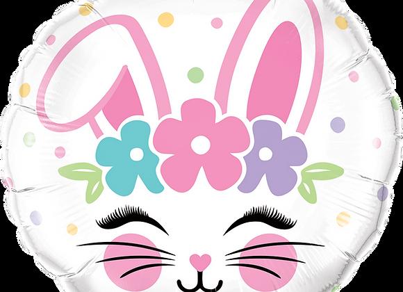 Bunny Face - Qualatex Small Foil