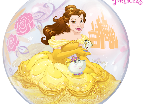 Disney Princess Belle - Qualatex Bubble Balloon