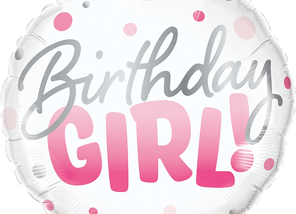 Birthday Girl - Pink dots