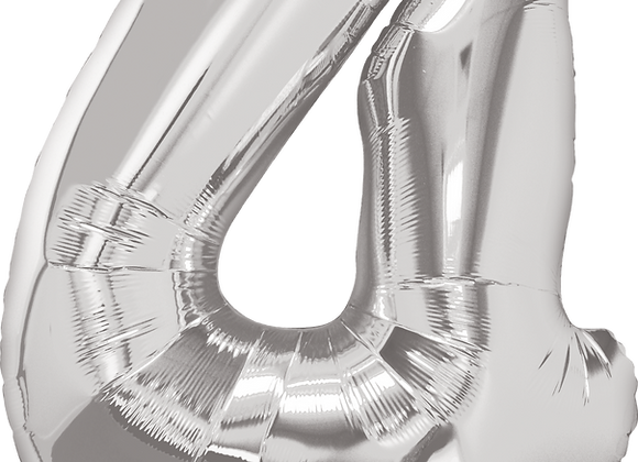 Silver - 4 - Qualatex Large Foil Balloon