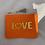 """Thumbnail: Musselin Kosmetiktasche """"Neon Love"""" Orange"""