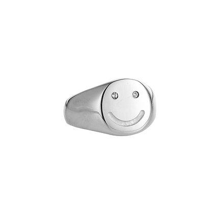 """Crystal Smile Silber"" Ring"