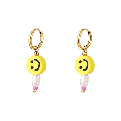 """""""Yellow Smile"""" Edelstahl Ohrringe"""