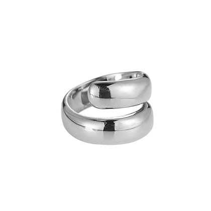 """""""Adelia"""" Edelstahl Ring Silber"""