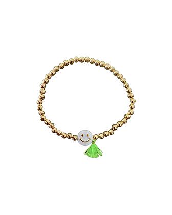 """""""Golden Tassle Grin Green"""" Armband"""