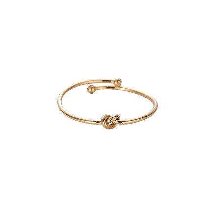"""Fine Knot Gold "" Edelstahl Ring"