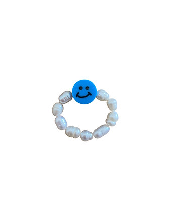 """""""Blue Smiley"""" Ring"""