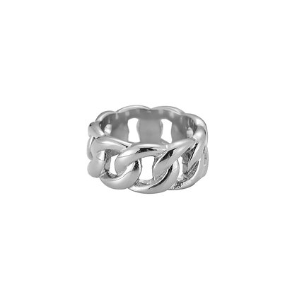 """""""Bold Chain Silber"""" Ring"""