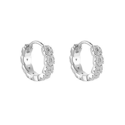 """""""Mini Diamond Hoops Silber"""" Ohrringe"""