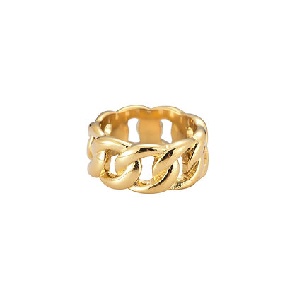"""""""Bold Chain Gold"""" Ring"""