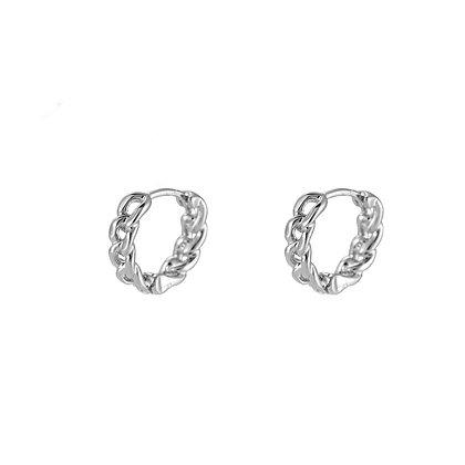 """""""Mini Chain Silber"""" Ohrringe"""