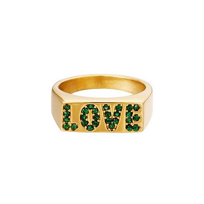 """""""LOVE"""" Edelstahl Ring"""