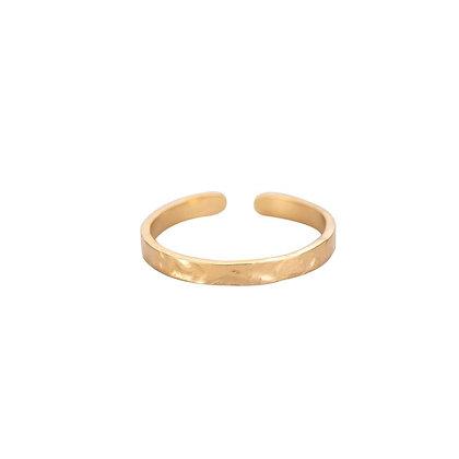 """""""Romina Gold"""" Edelstahl Ring"""