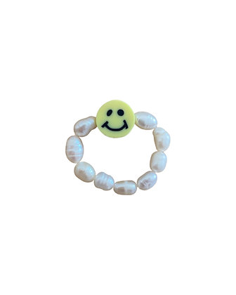 Yellow Smiley Ring