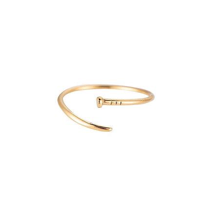 """Adelia Gold"" Edelstahl Ring"
