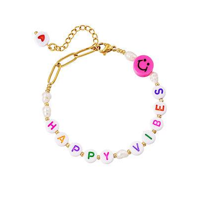 """Happy Vibes"" Armband"