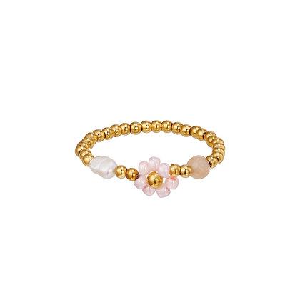 """Daisy Pink"" Ring"