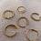 "Thumbnail: ""Adelia Gold"" Edelstahl Ring"