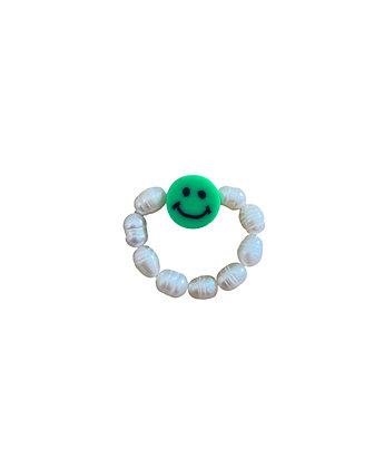 """Green Smiley"" Ring"