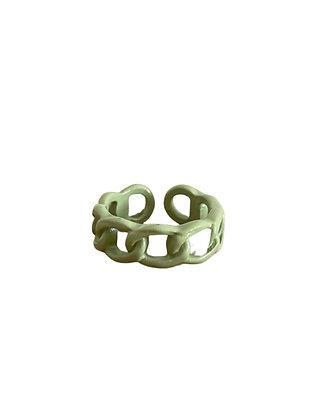 """Green Chain"" Ring"