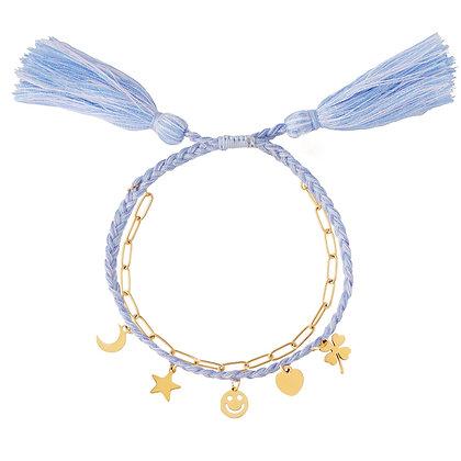 """""""Bohemian Charms Blau"""" Armband"""