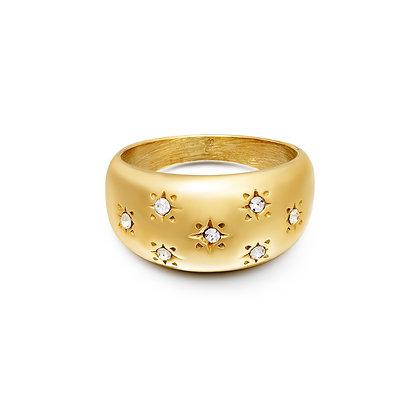 """""""Stardust"""" Edelstahl Ring"""