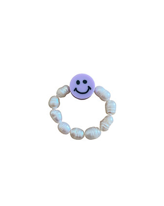 """Purple Smiley"" Ring"
