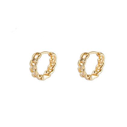 """Mini Chain Gold"" Ohrringe"
