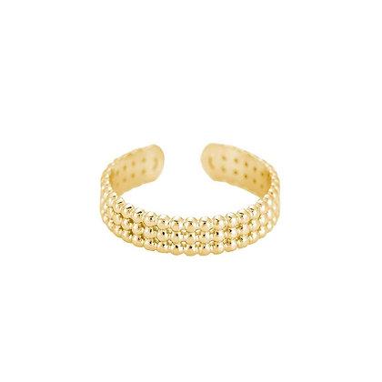 """""""Cara Gold"""" Edelstahl Ring"""