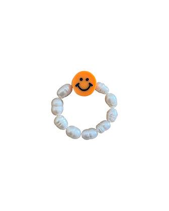 """Orange Smiley"" Ring"