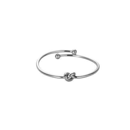 """""""Fine Knot Silber"""" Edelstahl Ring"""