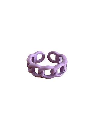 """Purple Chain"" Ring"