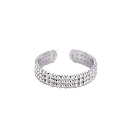 """""""Cara Silber"""" Edelstahl Ring"""