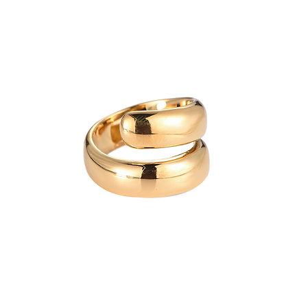 """""""Amalia"""" Edelstahl Ring Gold"""