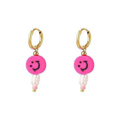 """""""Pink Smile"""" Edelstahl Ohrringe"""