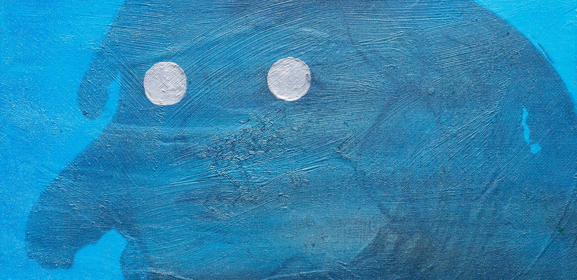 티아치의 눈, 캔버스에 유화와 아크릴, 33.5cm x 19cm, 201
