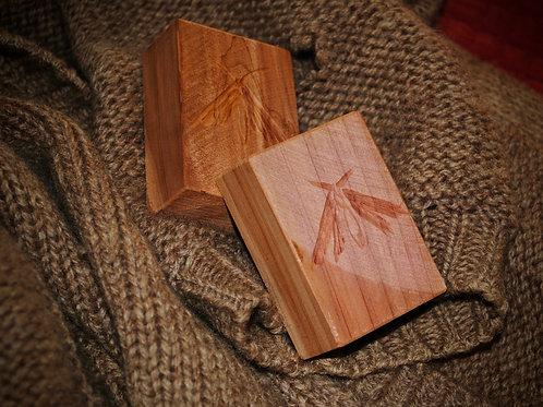 Raw Cedar Moth Blocks